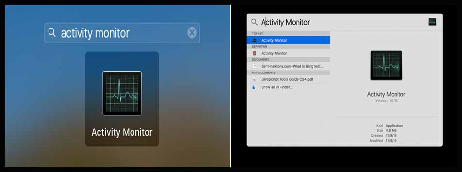 Activity Monitor for MAC