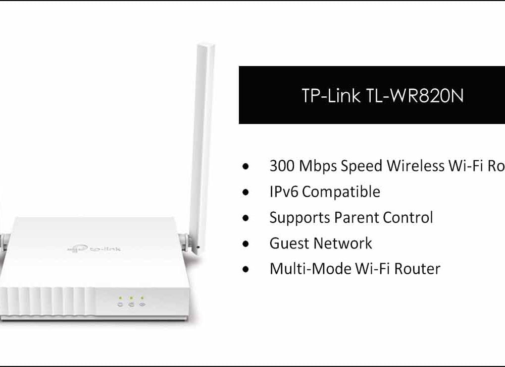 TP Link TL WR820N 300 Mbps WiFi Router Configuration
