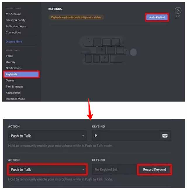 Enable Keybind - Push to Talk Feature in Discord